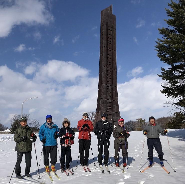 北海道百年記念塔にて
